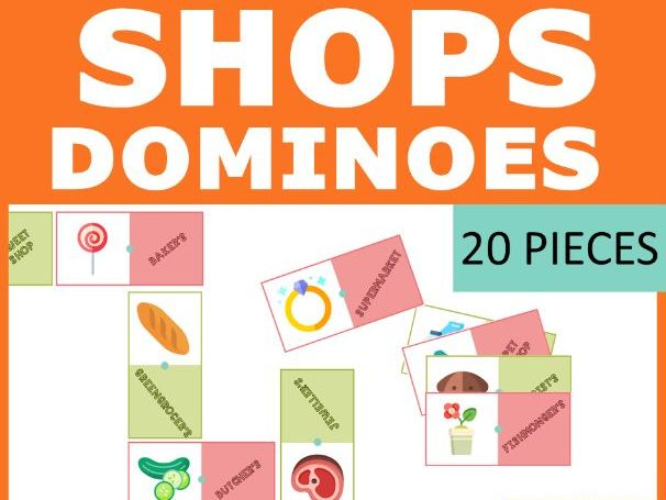 SHOPS Dominoes game (20 cards)
