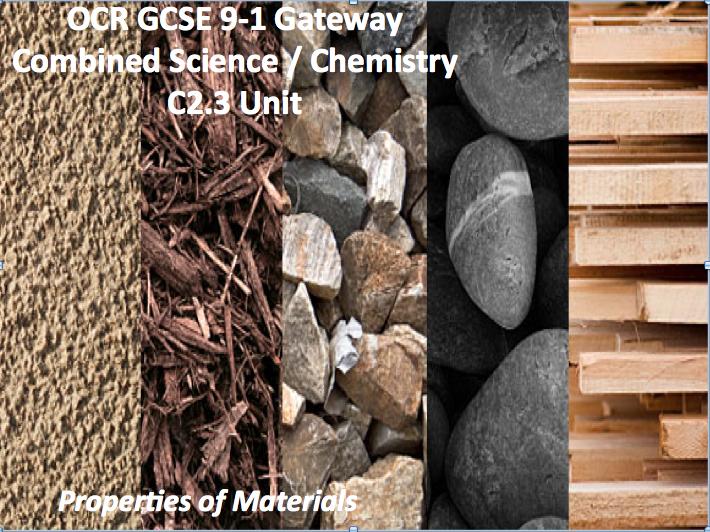 OCR GCSE 9-1 Gateway Combined Science / Chemistry C2.3 Unit