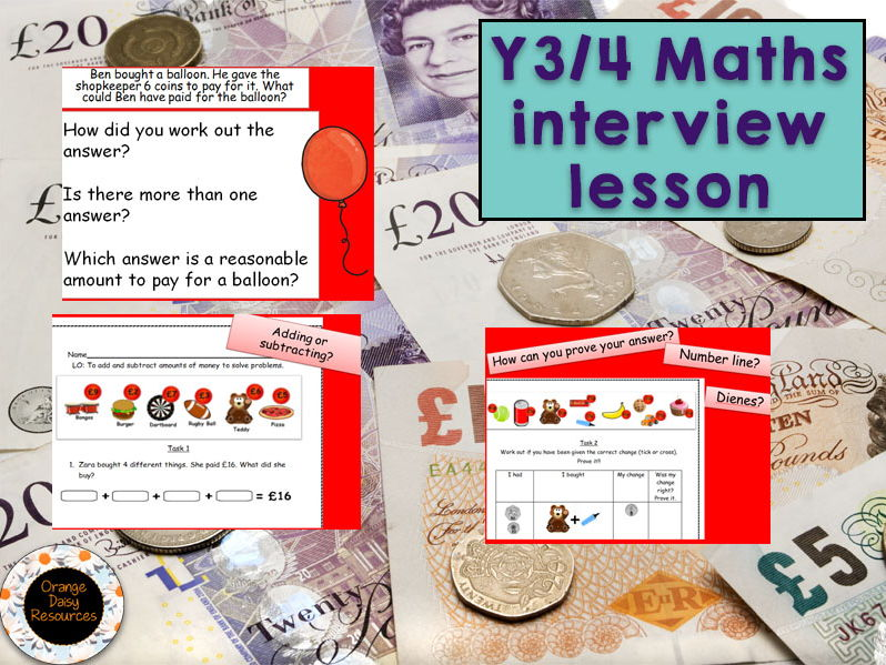 Outstanding Y3/4 Interview Maths Lesson - money, mastery, reasoning