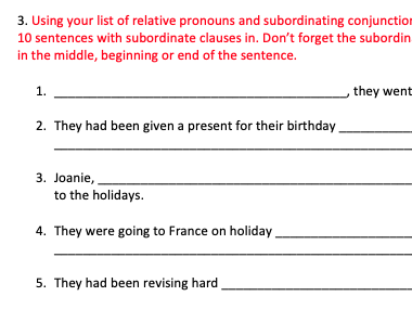 Year 6 Grammar Starter Activities