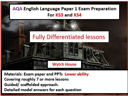 AQA GCSE English Language Paper 1 Exam Preparation For KS3 and KS4--Lower Ability