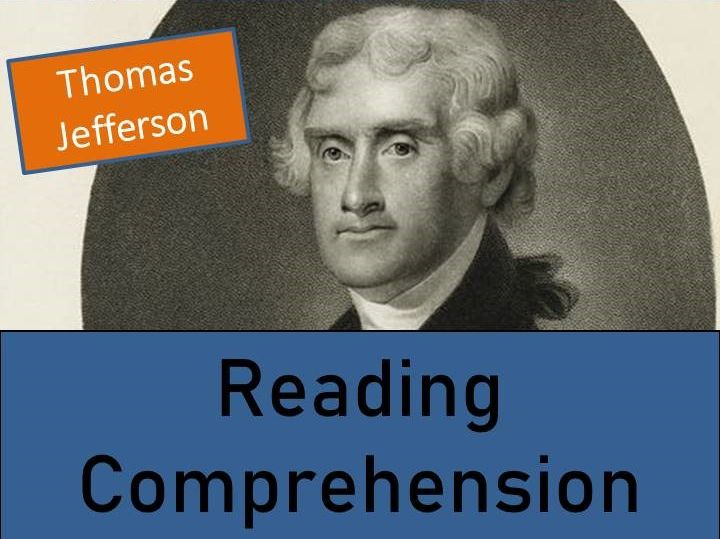 Thomas Jefferson - Year 6 Reading Comprehension Activity