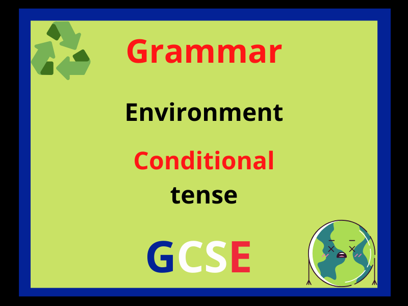 French conditional tense - environment