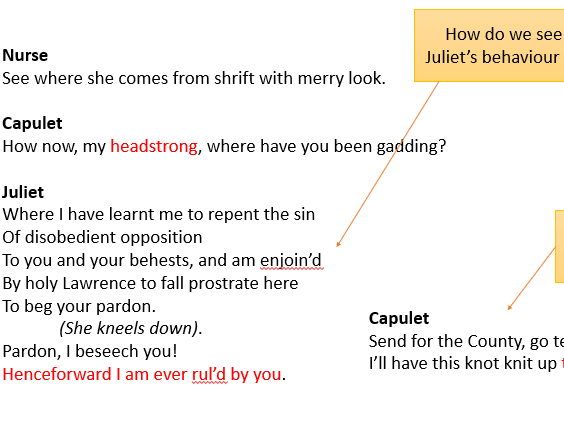 GCSE Romeo and Juliet Act 4 Scene 2