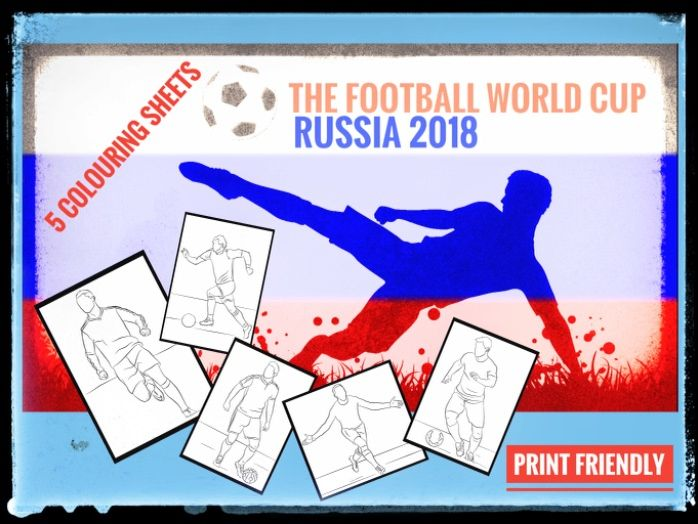 World Cup 2018 Colouring sheets