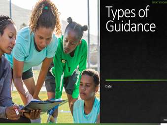4. Types of Guidance