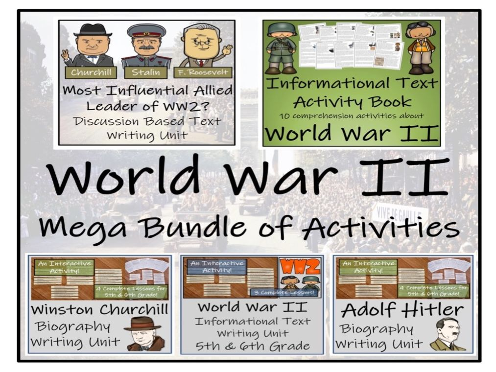 UKS2 History - World War II Mega Bundle of Activities