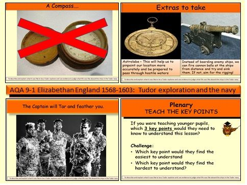AQA GCSE 9-1 Elizabethan England 1568-1603: An introduction to Elizabethan exploration and the navy