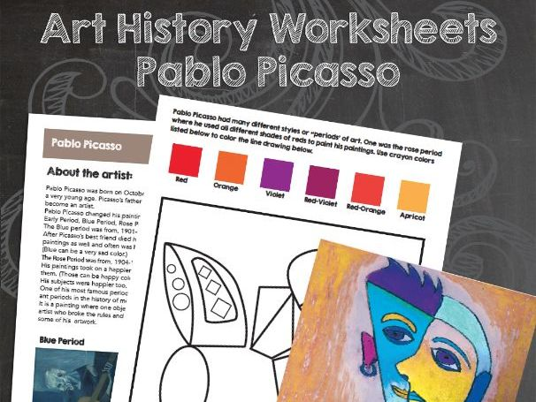 Pablo Picasso Worksheets and Art Activities
