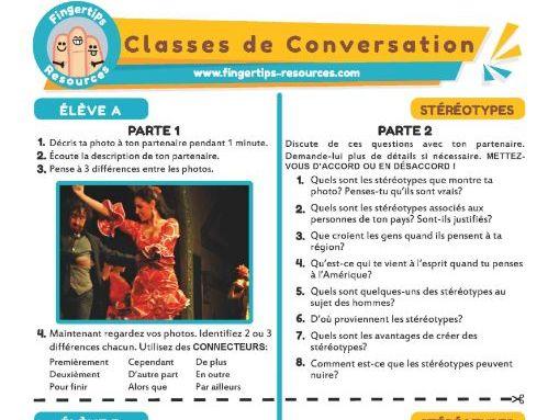 Les Stéréotypes - French Conversation Activity