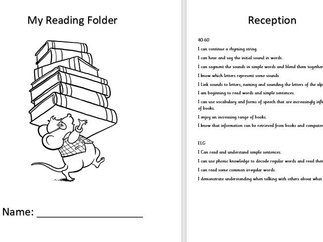Reading evidence folder EYFS/KS1