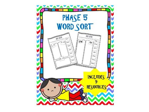 Phase 5 Phonics Word Sort