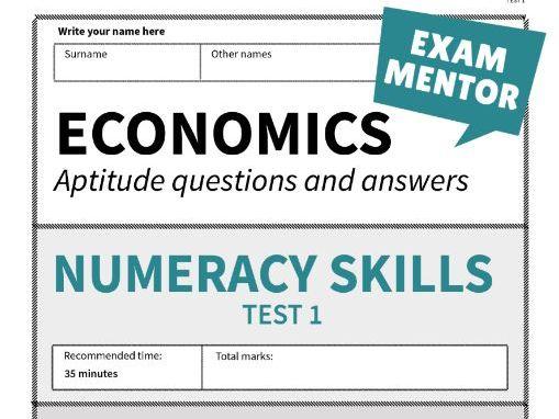 Economics Aptitude Tests