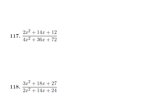 Simplifying algebraic fractions worksheet (with detailed solutions)
