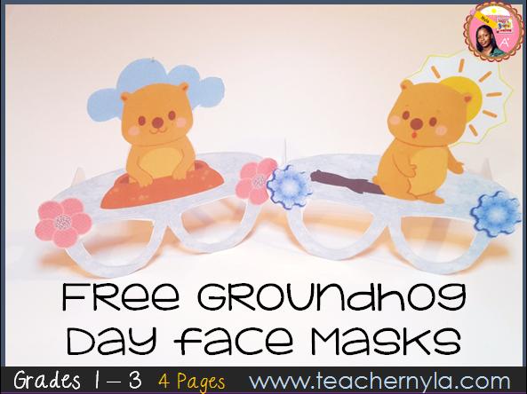 Free Groundhog Day Face Masks