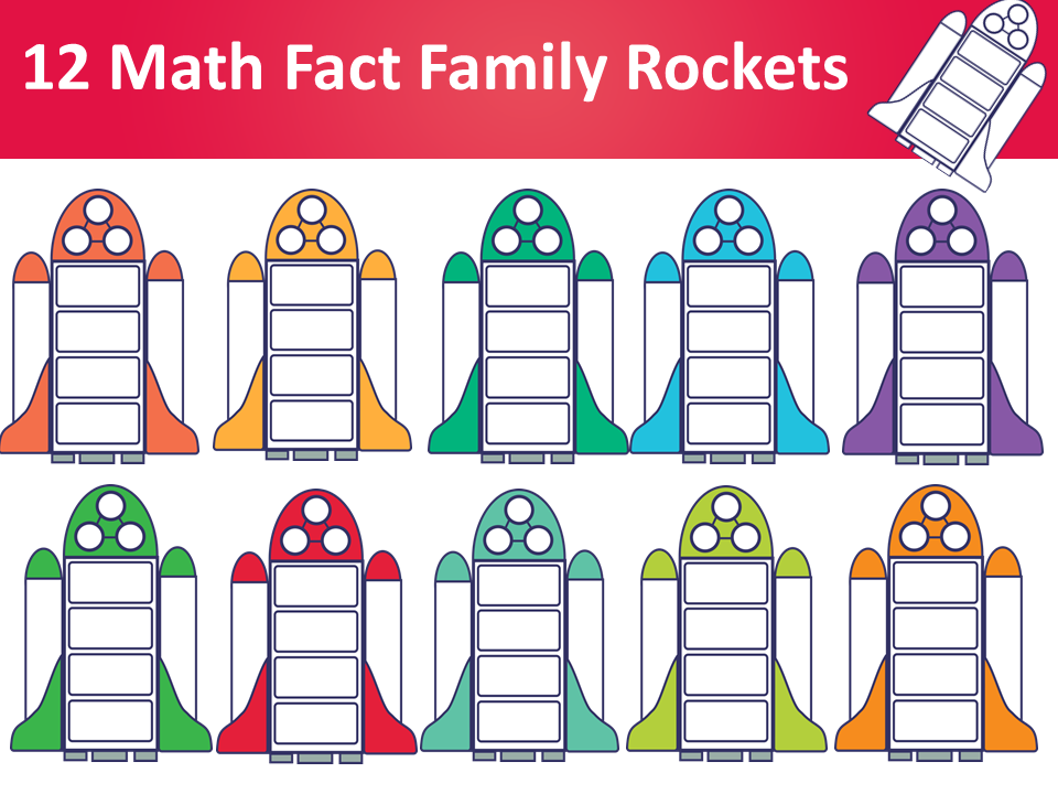 Fact Family Rockets Clipart