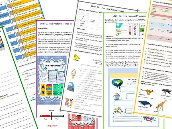 Spanish GCSE Grammar Booklet WITH ANSWERS