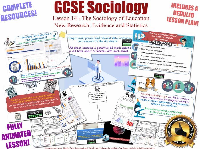 New Research, Evidence & Statistics - Sociology of Education L14/20 [ AQA GCSE Sociology - 8192] AO3