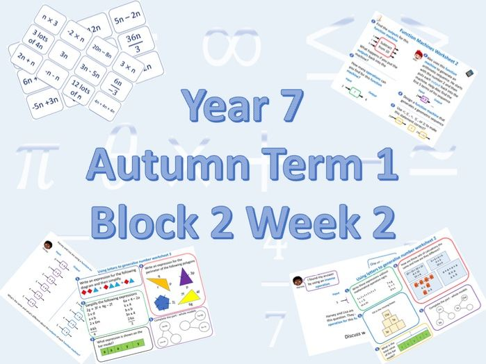 Planning for White Rose Maths Secondary Autumn Term 1 Block 2 Week 2 (Algebraic thinking)