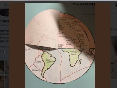 Earth Structure  - fold out activity.