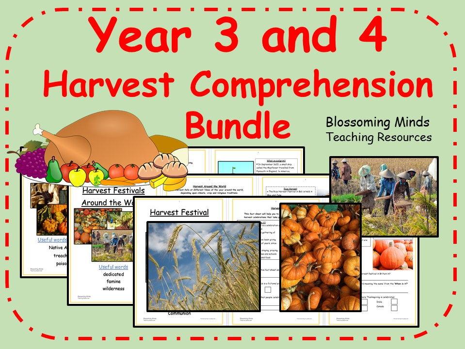 Year 3 and 4 Harvest Comprehension Bundle