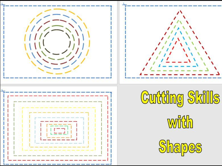 Cutting Skills with Shapes