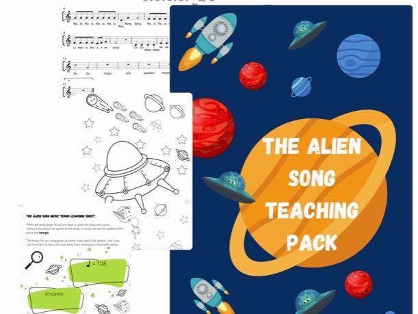 The Alien Song Teaching Pack, music teaching, singing teaching, beginner level.