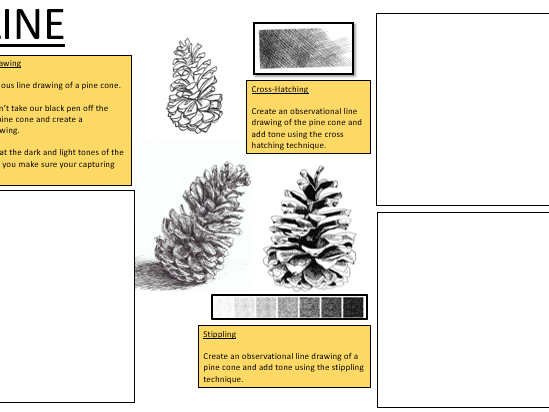 Four Cover Sheets on Formal elements- Natural Forms