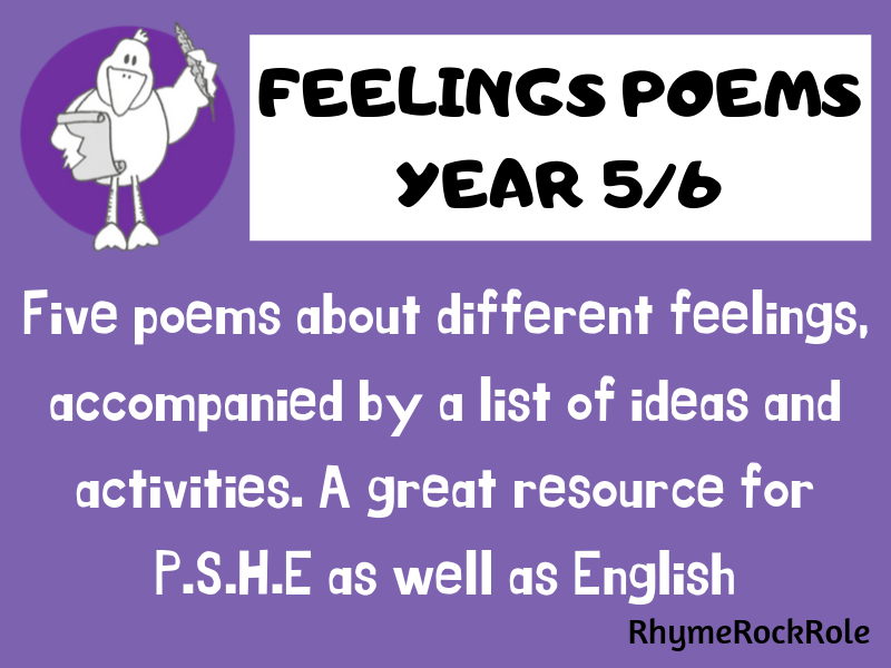 Feelings  Poems + activities, Y5/6