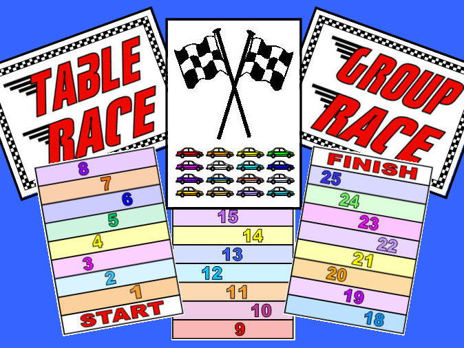 Class Table Race - Motivational Resource