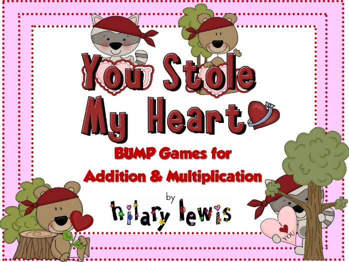 Addition & Multiplication Fact BUMP Game - You Stole My Heart