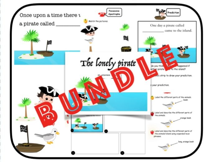 The Lonely Pirate - Book + Reading Activities (KS1)