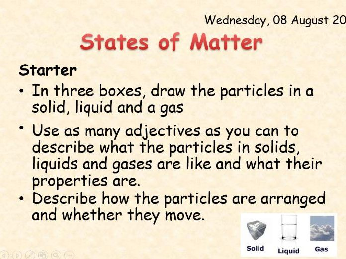 AQA Chemistry Topic 3: States of Matter