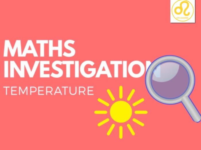 Maths Investigation temperature