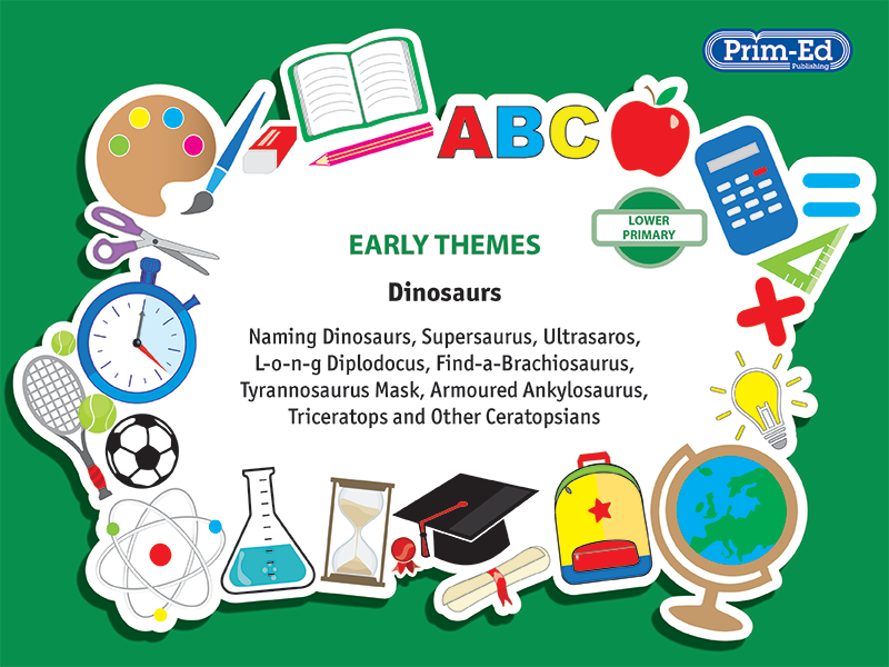EARLY THEMES: DINOSAURS - NAMING DINOSAURS, ETC EBOOK UNIT (Reception, Y1/P2, Y2/P3)