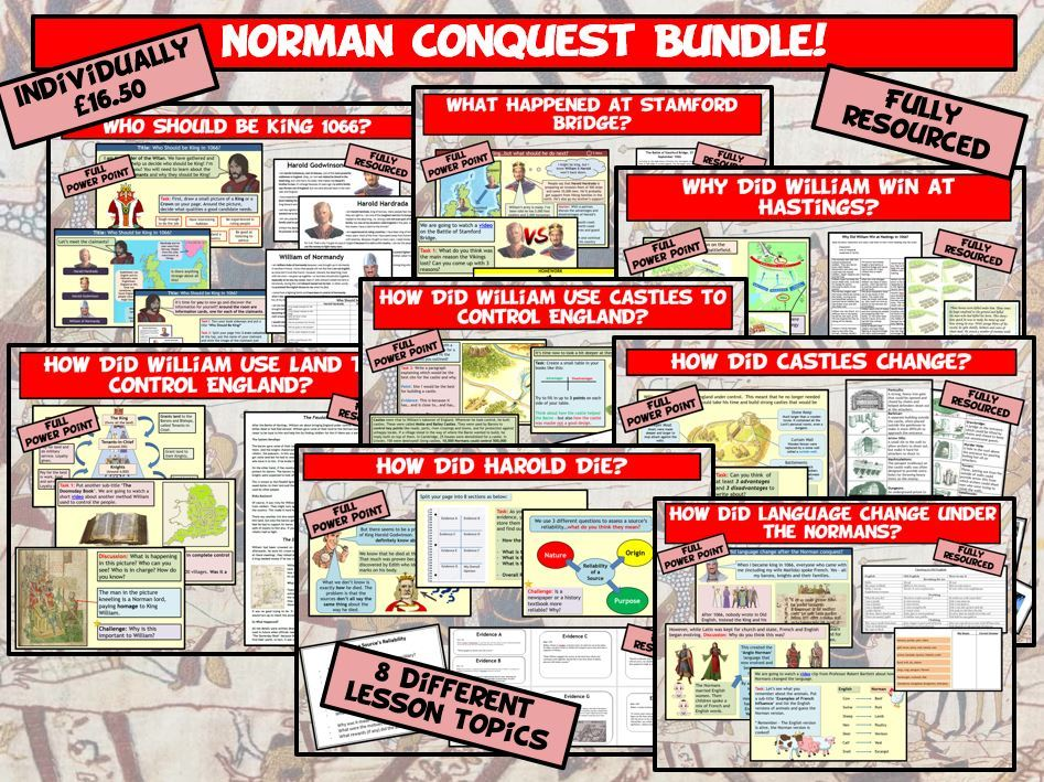 KS3 Norman Conquest 8 Lesson Bundle