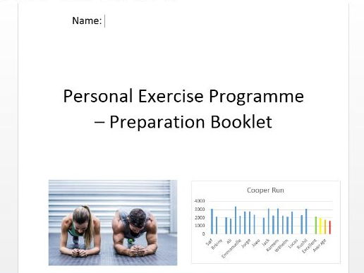 PE New GCSE 9-1. PEP Preparation Booklet.