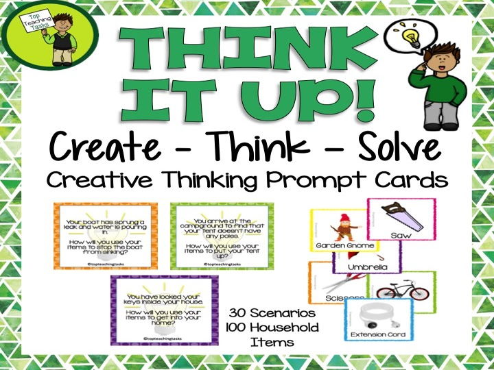 Create - Think - Solve Creative Thinking Prompt Cards (UK/AU/NZ)