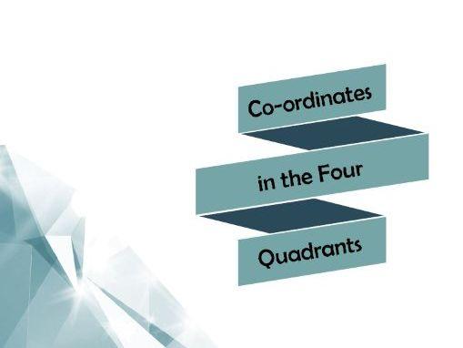 Co-ordinates in the Four Quadrants