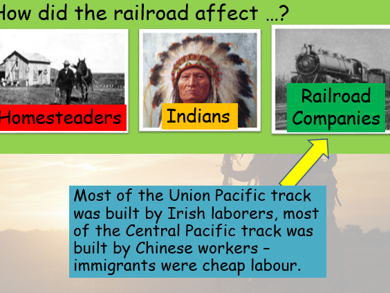 American West (Edexcel history 9-1) Transcontinental Railroad