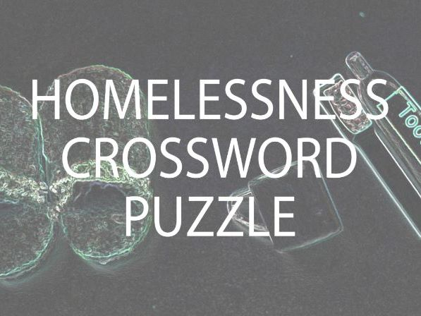 Homelessness Crossword Puzzle (US)