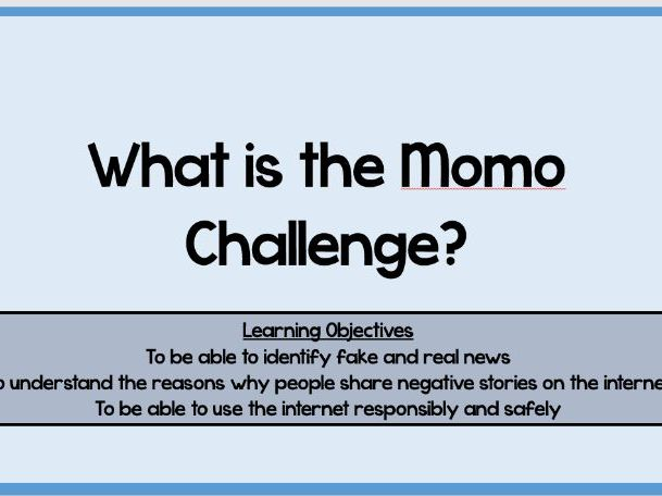 What is the MoMo Challenge? IT Lesson (Understanding Fake News)
