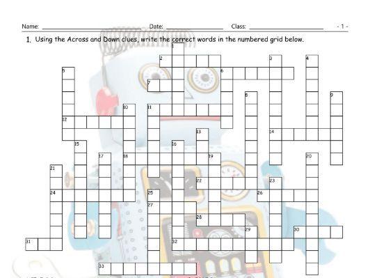 Technology-Gadgets Crossword Puzzle
