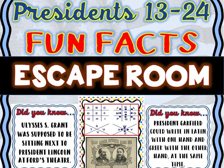 Presidents 13-24 Escape Room: Fun Facts: Lincoln