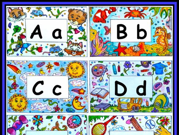 ABC Cards | Color Your Own Alphabet | Letters for Word Wall
