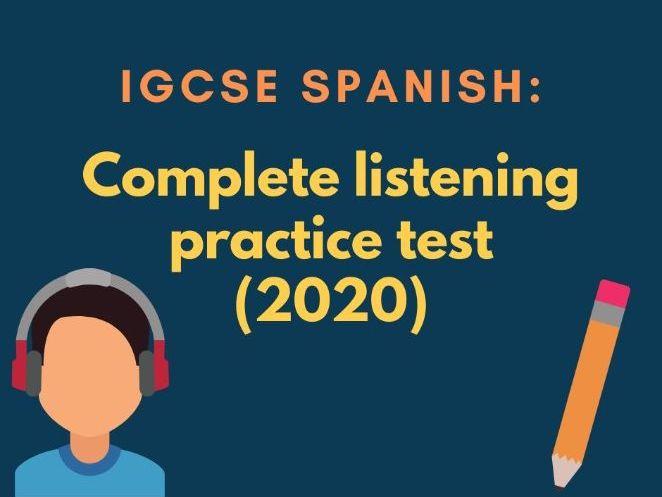 Edexcel IGCSE Spanish listening practice test (new spec.)