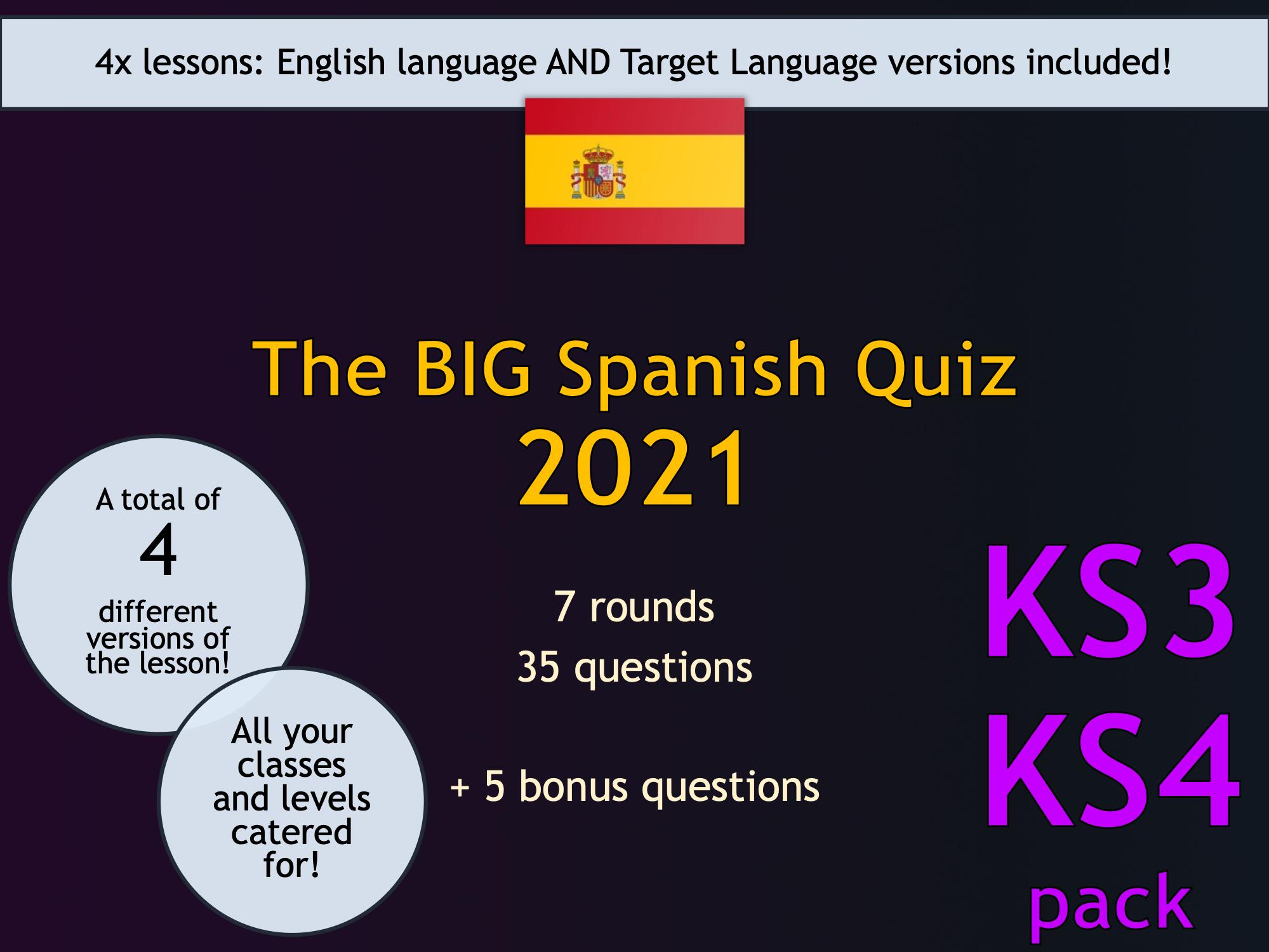 The BIG French Quiz 2021 (KS3/KS4)