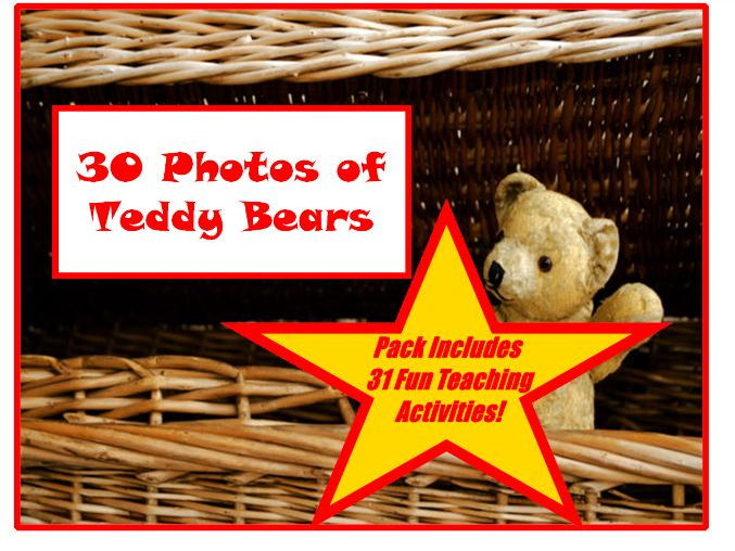 30 Teddy Bear Photos PowerPoint Presentation + 31 Fun Teaching Activities For These Cards