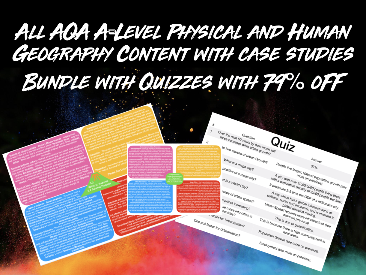 THE ULTIMATE AQA A-LEVEL GEOGRAPHY BUNDLE PHYSICAL AND HUMAN