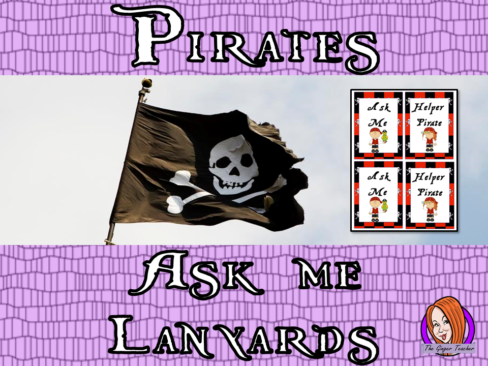 Pirate Themed 'Ask Me' Lanyards